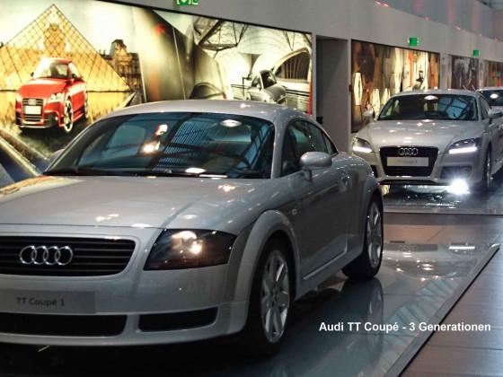 Audi TT - 3 Generationen
