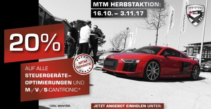 MTM: 20 % auf Steuergeräteoptimierungen und M-/ V- und S-Cantronic