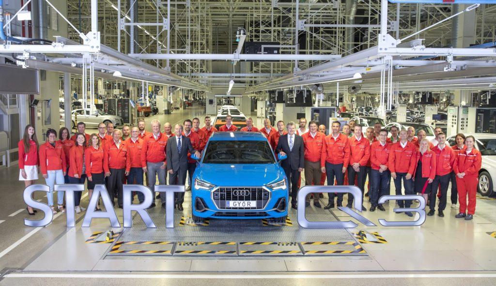 Erster SUV aus Győr: Produktionsstart des Audi Q3 bei Audi Hungaria